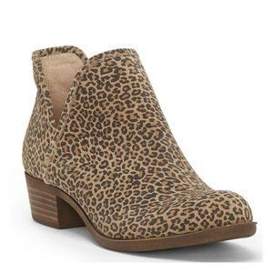LUCKY BRAND BALEY LEOPARD ANKLE BOOTIES NWOB
